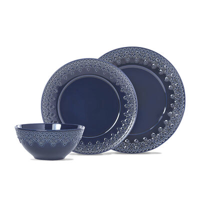"Lenox ""Chelse Muse Fleur Navy"" 12-pc Dinnerware Set"
