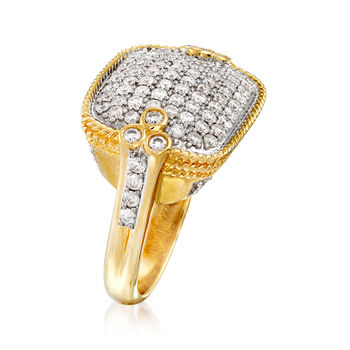 C. 1980 Vintage 2.10 ct. t.w. Pave Diamond Ring in 14kt Yellow Gold. Size 9, , default