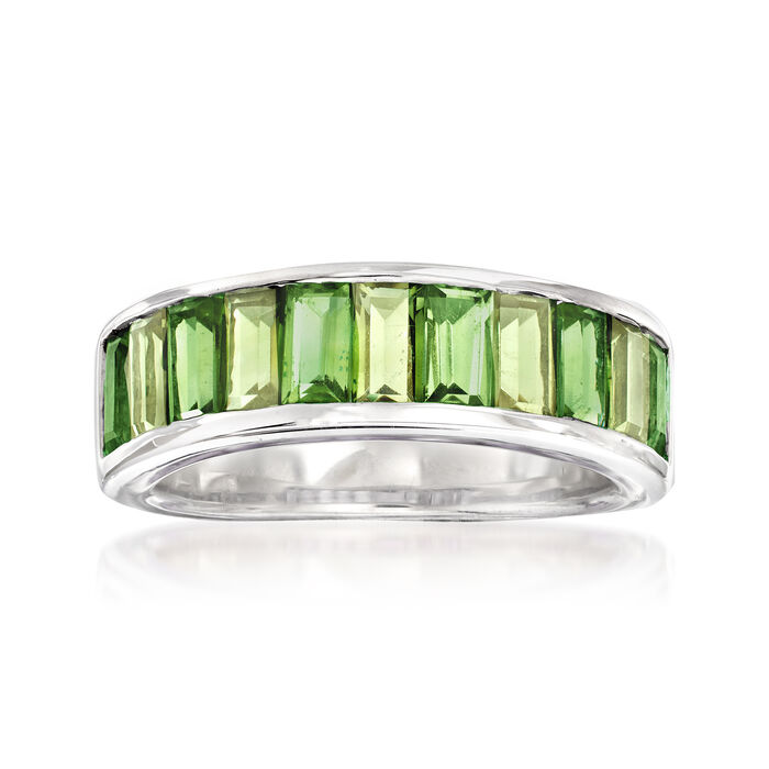1.20 ct. t.w. Green Chrome Diopside and .90 ct. t.w. Peridot Ring in Sterling Silver