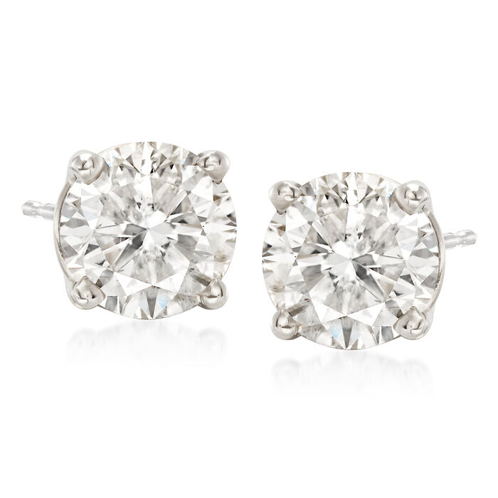 3.00 ct. t.w. Diamond Stud Earrings in 18kt White Gold, , default