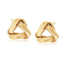 22kt Yellow Gold Knot Earrings, , default
