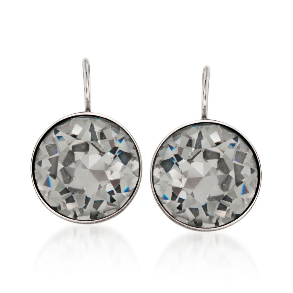 994b8d1858e4 Swarovski Crystal  quot Bella quot  Black Crystal Drop Earrings in  Silvertone