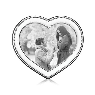 "Reed and Barton ""Precious Heart"" 4x3 Heart-Shaped Frame from Italy, , default"