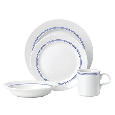 "Dansk ""Cafe Blanc"" Blue Stripe 16-pc. Service for 4 Dinnerware Set"
