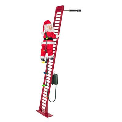 """Mr. Christmas Indoor/Outdoor Deluxe 56""""H Super Climbing Ladder Santa, , default"""