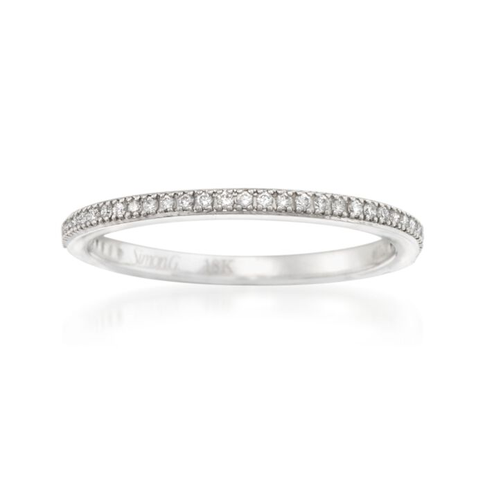 Simon G. .15 ct. t.w. Diamond Wedding Ring in 18kt White Gold
