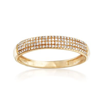.15 ct. t.w. Multi-Row Pave Diamond Ring in 14kt Yellow Gold, , default