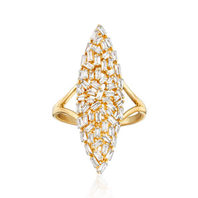 .85 ct. t.w. Diamond Cluster Ring in 14kt Yellow Gold