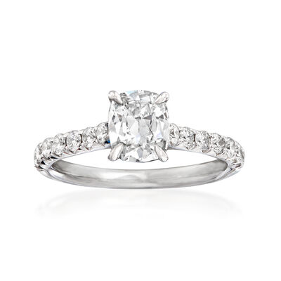 Henri Daussi 1.49 ct. t.w. Certified Diamond Engagement Ring in 18kt White Gold, , default