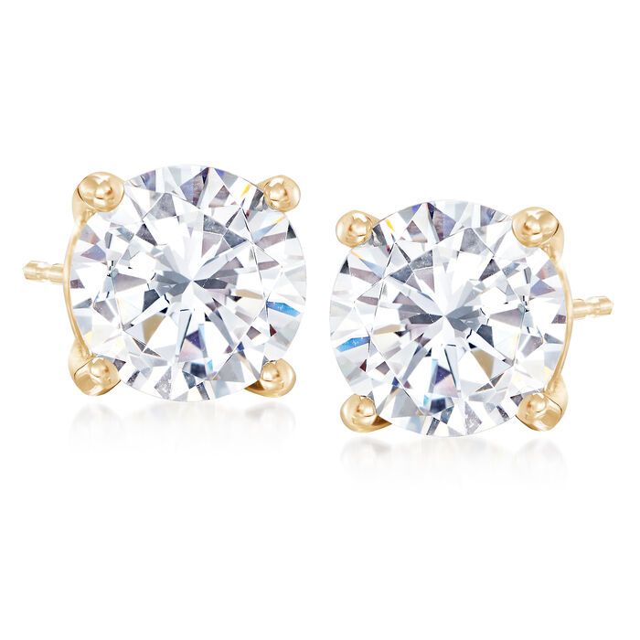 5.00 ct. t.w. CZ Stud Earrings in 14kt Yellow Gold , , default