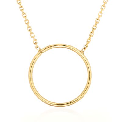 14kt Yellow Gold Open Circle Necklace