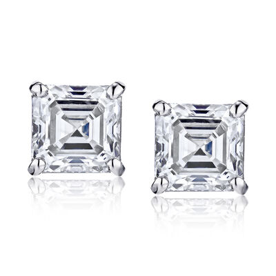 .95 ct. t.w. Diamond Stud Earrings in 14kt White Gold, , default