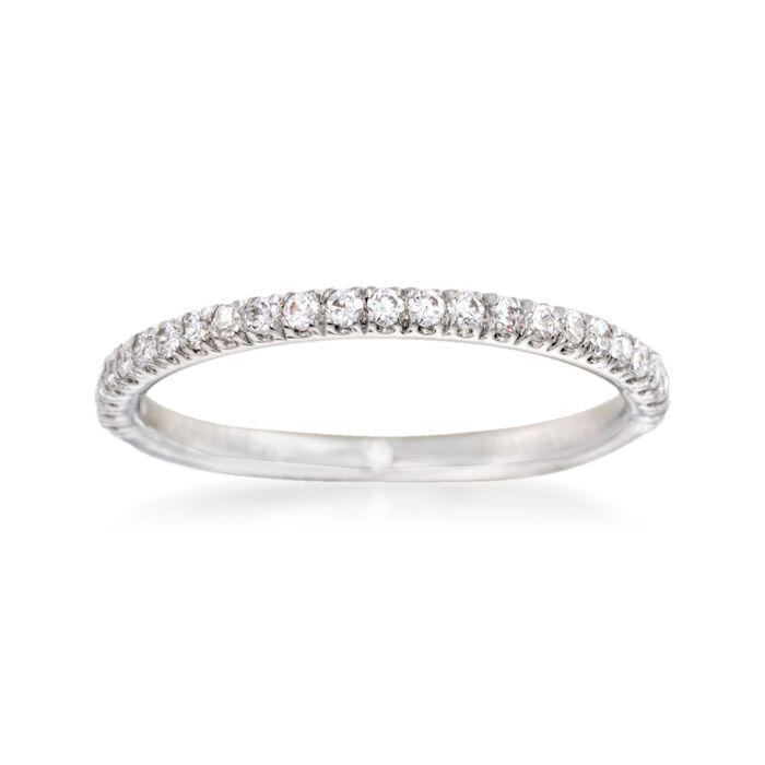 Gabriel Designs .24 ct. t.w. Diamond Wedding Ring in 14kt White Gold