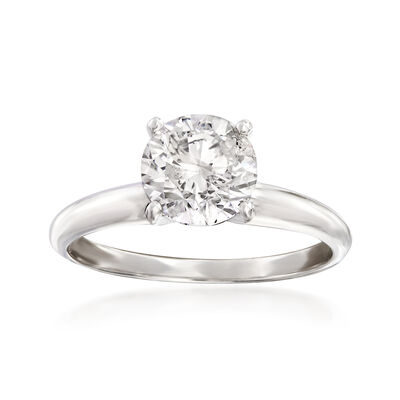 1.50 Carat Diamond Solitaire Ring in Platinum, , default