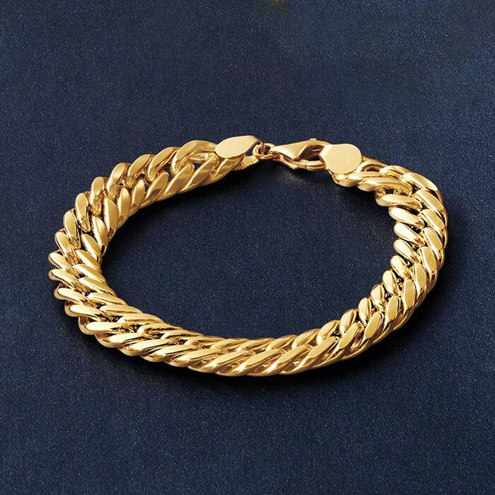 Italian 18kt Yellow Gold Cuban Link Bracelet
