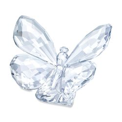 "Swarovski Crystal ""Butterfly on a Leaf"" Figurine, , default"