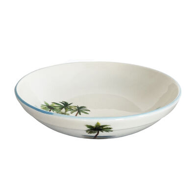 "Abbiamo Tutto Italian ""Palm Breezes"" Ceramic Serving Bowl, , default"