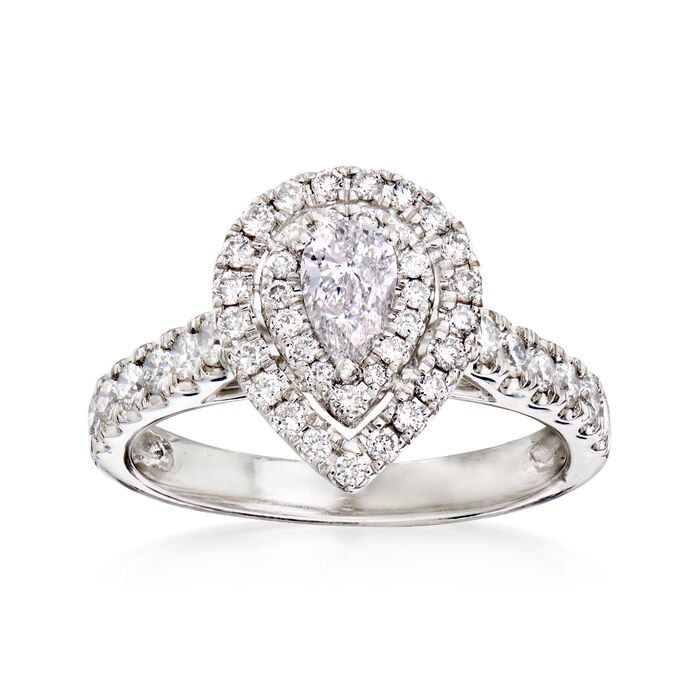 .70 ct. t.w. Diamond Bridal Set: Engagement and Wedding Rings in 14kt White Gold