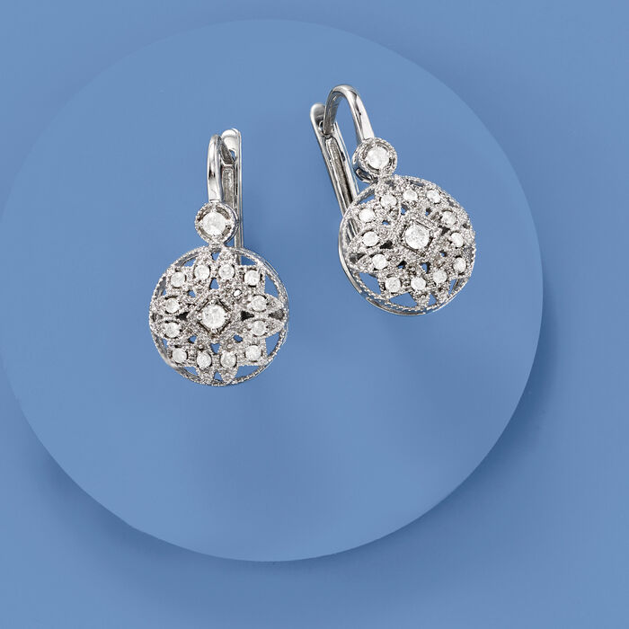 .50 ct. t.w. Diamond Multi-Shape Drop Earrings in Sterling Silver