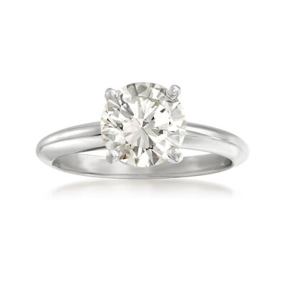 2.00 Carat Certified Diamond Solitaire Ring in 14kt White Gold