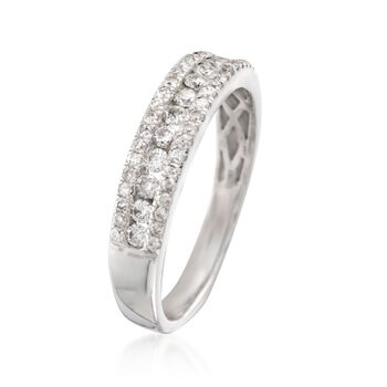 .50 ct. t.w. Diamond Three-Row Ring in 14kt White Gold