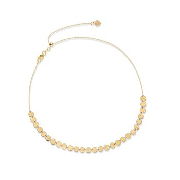 14kt Yellow Gold Multi-Disc Choker Necklace , , default