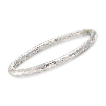 """Sterling Silver Hammered Bangle Bracelet. 7.5"""", , default"""