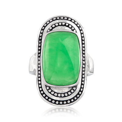 Jade Ring in Sterling Silver