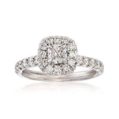 Henri Daussi 1.04 ct. t.w. Diamond Engagement Ring in 18kt White Gold, , default