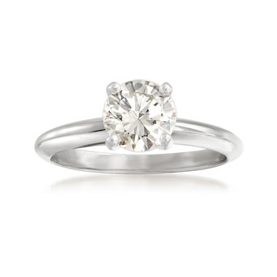 1.22 Carat Diamond Solitaire Ring in 14kt White Gold, , default