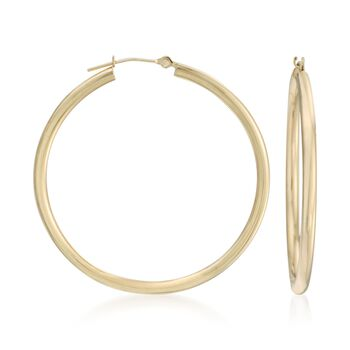 "20mm 14kt Yellow Gold Hoop Earrings. 3/4"", , default"