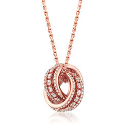 "Swarovski Crystal ""Further"" Pendant Necklace in Rose Gold-Plated Metal, , default"
