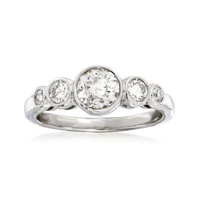 C. 2000 Vintage 1.40 ct. t.w. Diamond Ring in Platinum, , default