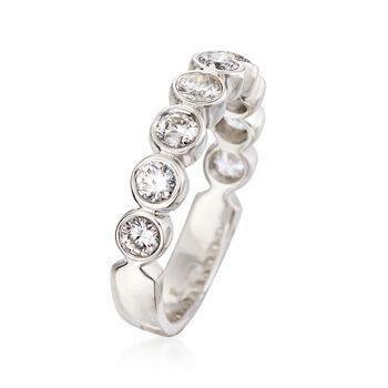 1.00 ct. t.w. Bezel-Set Diamond Ring in 14kt White Gold