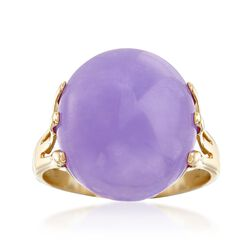 Lavender Jade Ring in 14kt Yellow Gold, , default