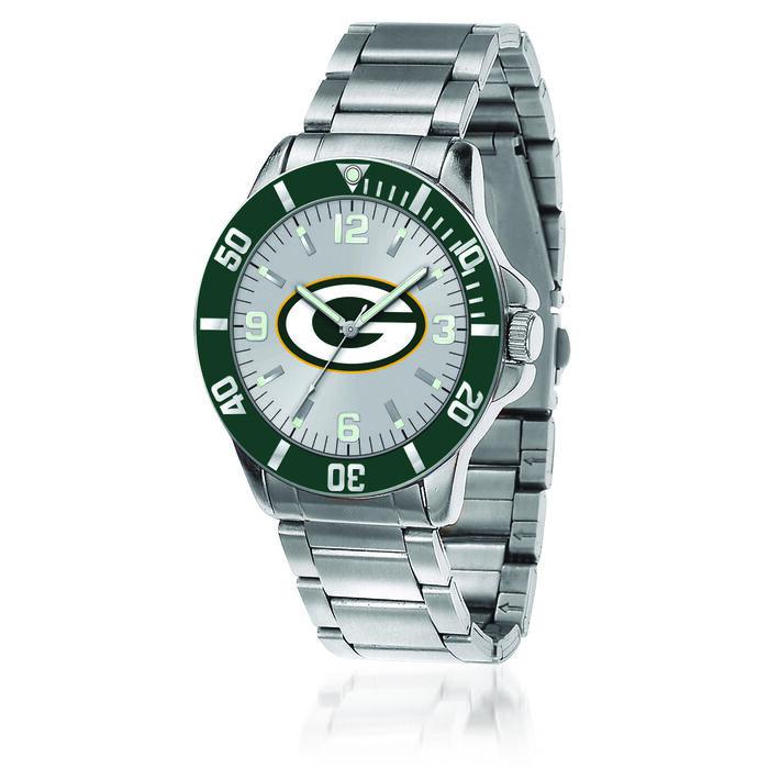 Men's 46mm NFL Green Bay Packers Stainless Steel Key Watch, , default