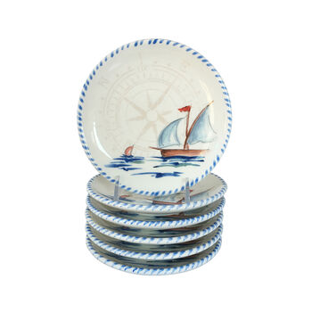 Abbiamo Tutto Italian Sailboat Ceramic Dinnerware, , default