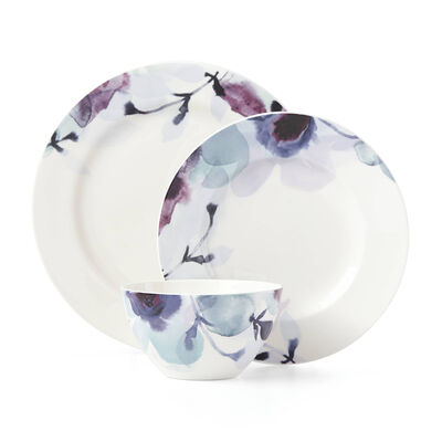 "Lenox ""Indigo Watercolor Floral"" Dinnerware Set, , default"