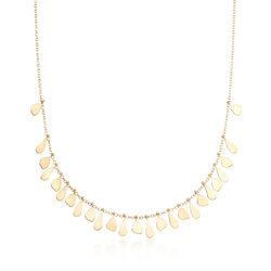 "Italian 14kt Yellow Gold Graduated Drops Necklace. 18"", , default"
