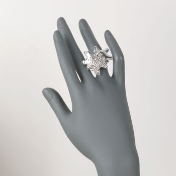 Sterling Silver Starfish Trio Ring. Size 5, , default