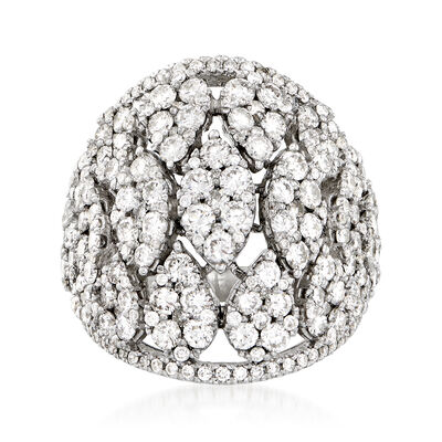 4.00 ct. t.w. Diamond Cluster Ring in 18kt White Gold, , default