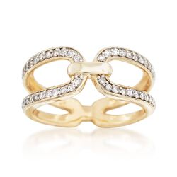 .33 ct. t.w. Diamond Horsebit Ring in 14kt Yellow Gold, , default