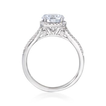 .27 ct. t.w. Diamond Halo Engagement Ring Setting in 14kt White Gold
