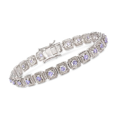 2.20 ct. t.w. Tanzanite Bracelet in Sterling Silver, , default