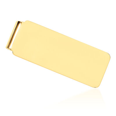14kt Yellow Gold Engravable Money Clip, , default