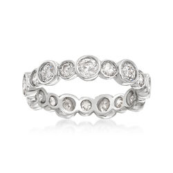 1.75 ct. t.w. Bezel-Set Diamond Eternity Band in 14kt White Gold, , default