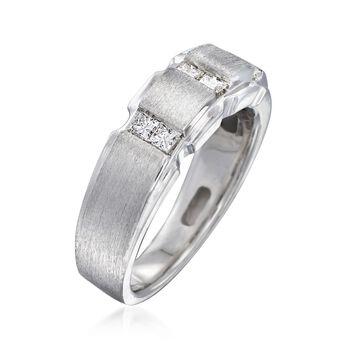 Men's .49 ct. t.w. Diamond Ring in 14kt White Gold, , default
