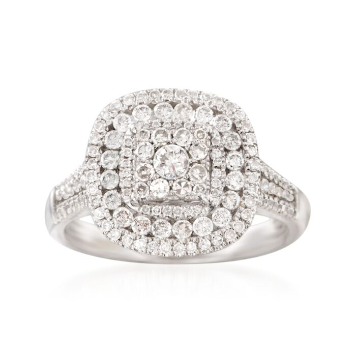 1.00 ct. t.w. Diamond Ring in 14kt White Gold, , default