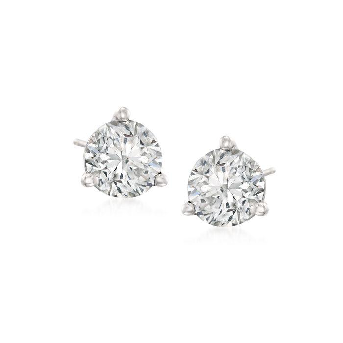 .75 ct. t.w. Diamond Martini Stud Earrings in Platinum , , default