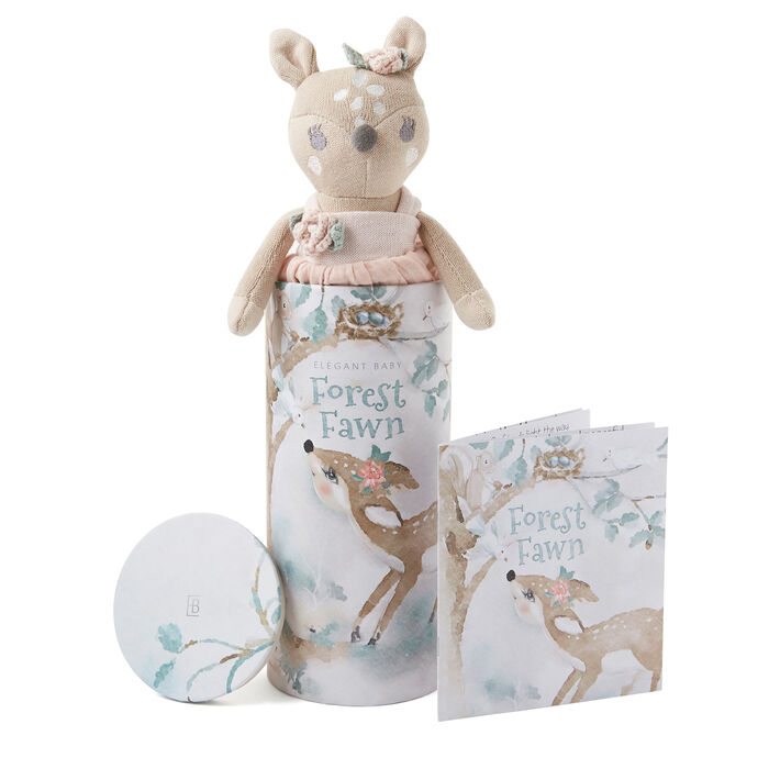 Elegant Baby Fifi Fawn Knit Toy and Book Set, , default